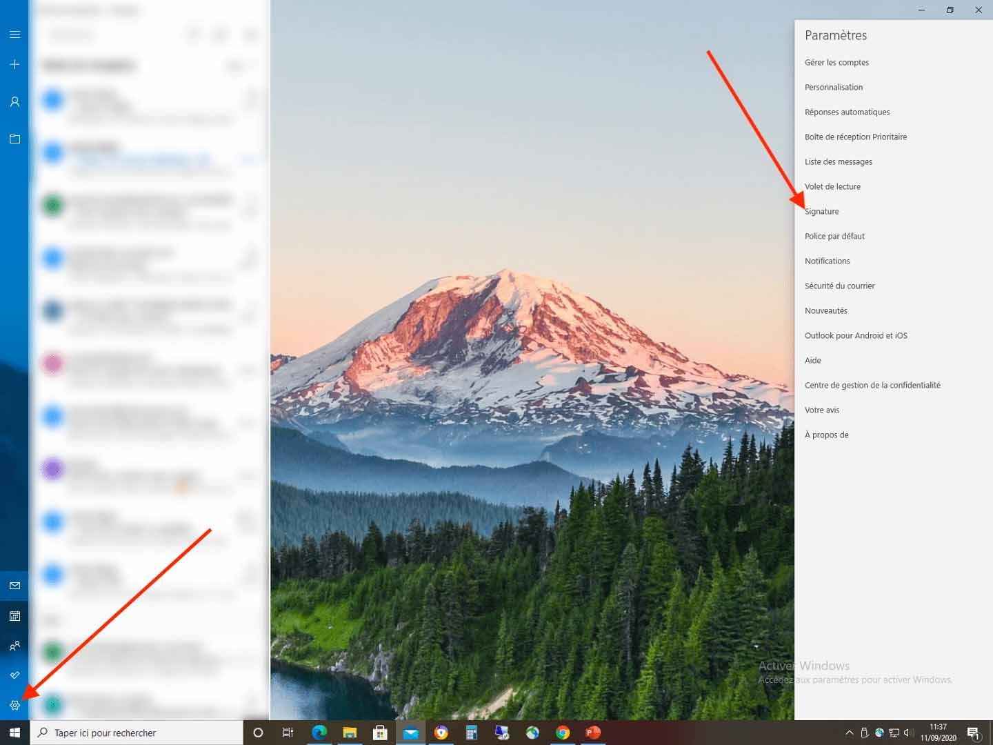 open your outlook preferences