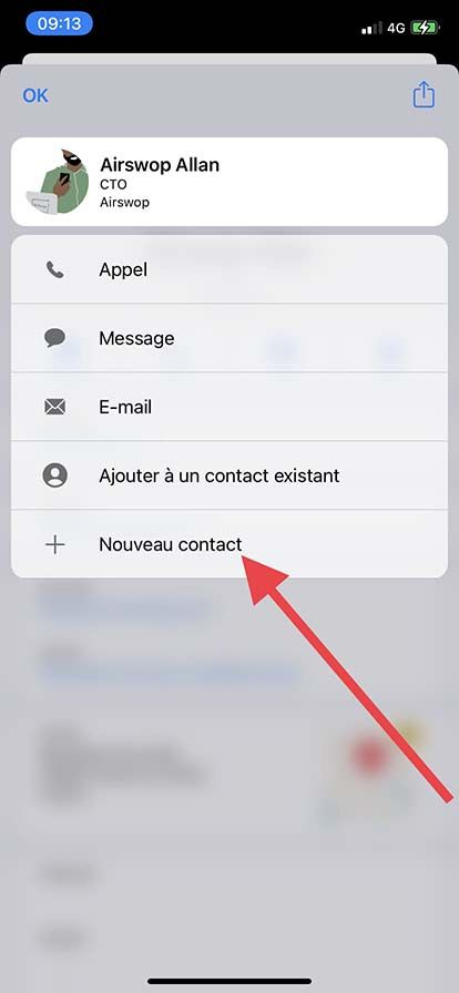 save as a new contact