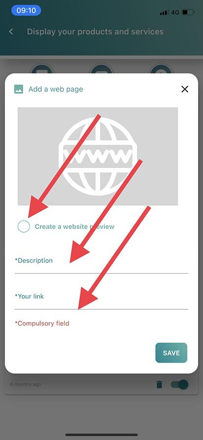 Add a web page with preview