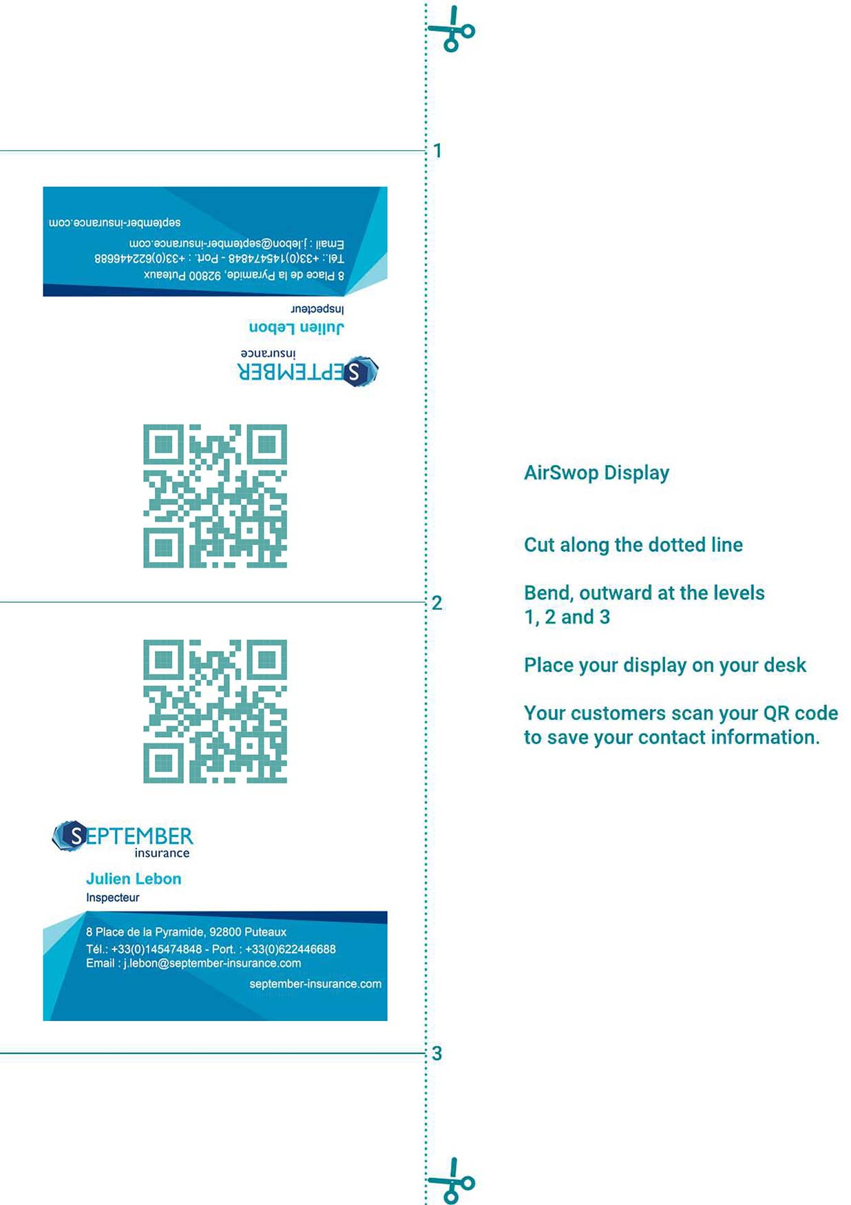 document to print your leaflet